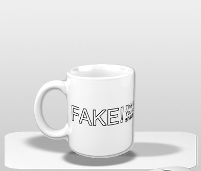 fake coffee mug