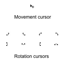 mouse cursors for gesture-based interface